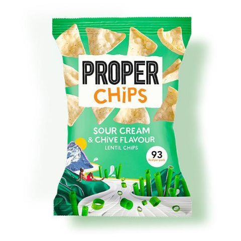 Properchips Sour Cream & Chive Lentil Chips 20g